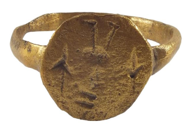 Rare Viking signet ring, ca. 900 A.D., gilt bronze, size 8.5. Estimate: $250-$300. Jasper52 image