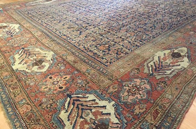 Garrous Bijar Gol Farang design rug, Iran, 1870s, wool, 11.9 x 15 feet. Estimate: $10,000-$15,000. Jasper52 image